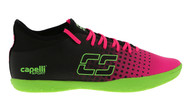 CSA FUSION  INDOOR SOCCER SHOES NEON PINK NEON GREEN BLACK