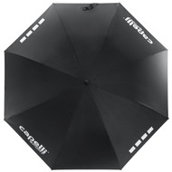 CSA  UNISEX AUTOMATIC STICK UMBRELLA -- BLACK WHITE