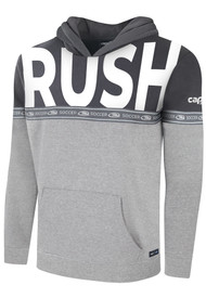 RUSH NATIONAL SOCCER SPECIAL EDITION COLOR BLOCKED PULLOVER HOODIE LIGHT HEATHER GREY