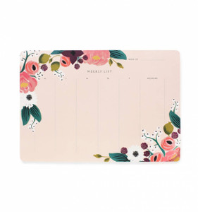 Rifle Paper Co. Pink Floral Weekly Deskpad