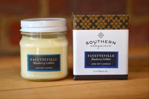 Fayetteville Mason Jar Candle - Blueberry Indigo