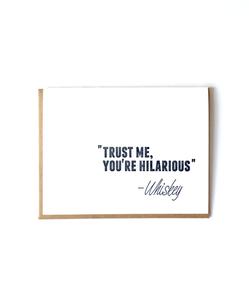 Whiskey Letterpress Card