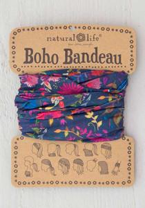 Natural Life Charcoal Wild Flowers Boho Bandeau