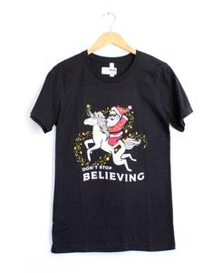 Don't Stop Believin' Black Tee
