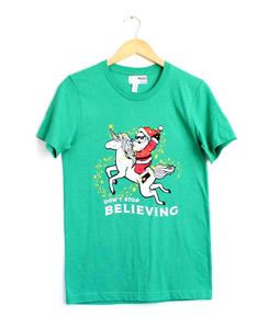 Don't Stop Believin' Green Tee