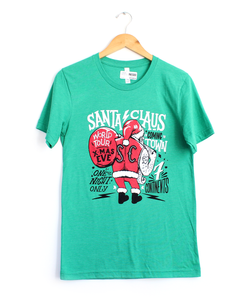 Santa World Tour Green Tee