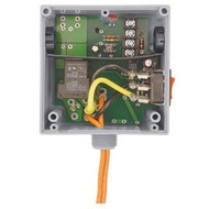FUNCTIONAL DEVICES FUNRIBTE24SB Enclosed Relay Hi/Low sep 20Amp SPST 24Vac/dc power + 5-30Vac/dc control