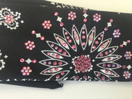 Bandana, aBlack with Pink Bling FREE SHIPPING