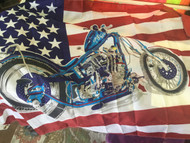 Flag, American Flag with Motorcycle 3x5'