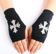 Glove, Fingerless Gloves Cross