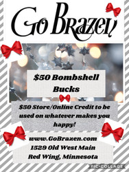 Gift Certificate, $50 purchase & you get an $10 Store/Online Credit