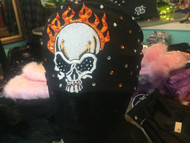 Headband, Skull Flames FREE SHIPPING