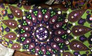 Bandana, Multi Deep Purples & Greens FREE SHIPPING
