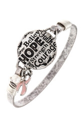 Bracelet, Pink Ribbon Breast Cancer