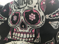Bandana, Skull Sugar Pink & Black Sturgis on Side FREE SHIPPING