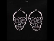 Earrings, Skull Face