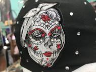 Headband, Lady Sugar Skull Day Of Dead FREE SHIPPING