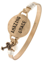 Bracelet, Amazing Grace Goldtone