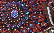 Bandana, Multi Color Browns with Volcano Bling FREE SHIPPING