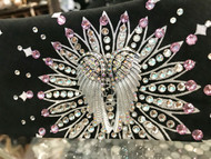 Bandana, Angel Wing Black w/ Pink FREE SHIPPING