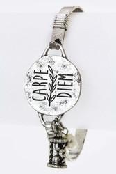 Bracelet, Carpe Dien Silvertone