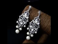 Earrings Pearl Crystral Rhinestone