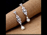 Earrings Pearl-Like Drop Crystal Rhinestone