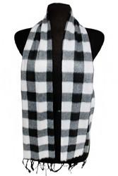 Scarf, Plaid Black & White