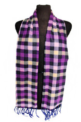Scarf, Plaid Purple