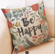 Pillow Cover, Be Happy