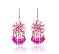 Earrings, Round Pink