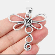 Pendant, Necklace Pendant Dragonly Swirl