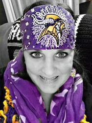 Bandana, Sports Vikings ULTIMATE SPORTS FAN BLING, FREE SHIPPING