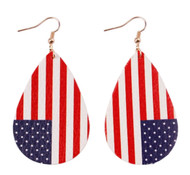 Earrings, Flag Double Sided Print