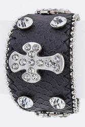 Bracelet, Leather Cross