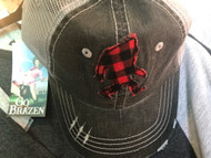 Cap, Baseball Big Foot Sasquatch Buffalo Plaid