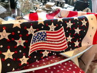 Bandana, Flag American Red Point w/ Flag FREE SHIPPING