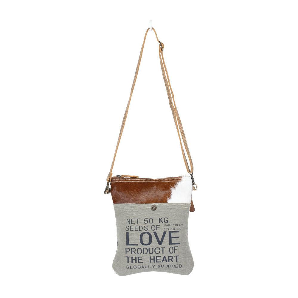 Purse Love Myra Canvas Hair On Leather Handmade genuine leather handbags at affordable prices. go brazen