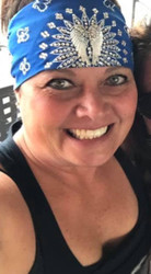 Bandana, Angel Wing Royal Blue FREE SHIPPING