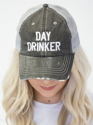 Cap, Baseball Day Drinker Dark Grey Mesh Back Adjustable