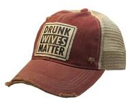 Cap, Baseball Drunk Wives Matter Red