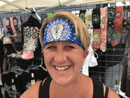 Bandana, Angel Wing Royal Blue
