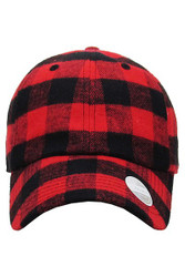 Cap, Baseball Buffalo Plaid Red