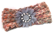 Headband, Knit Grey Mauve