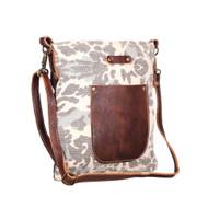 Purse, Canvas Leather Shoulder Bag