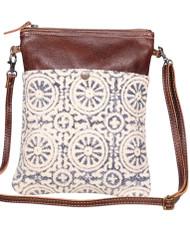 Purse, Crossbody Leather Geometric