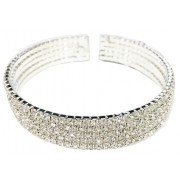 Bracelet, Rhinestone Brilliant Silver