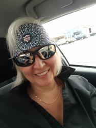 Bandana, Motorcycle bandana at its stunning best.  Great as a cancer head scarf too. #BadHairDaySolved. Check out all the stunning bandanas that Go Brazen makes, they are show stoppers, on line or swing on by their store in Red Wing, Minnesota