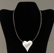 Necklace, Heart Puffed