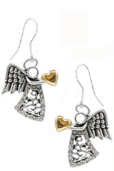 Earrings, Angel Two Tone